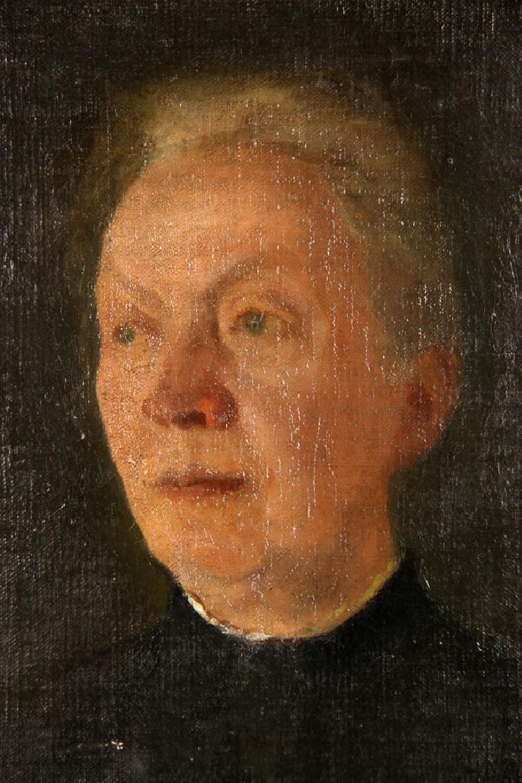 Aiken, Portrait of a Lady, Oil on Board - 3