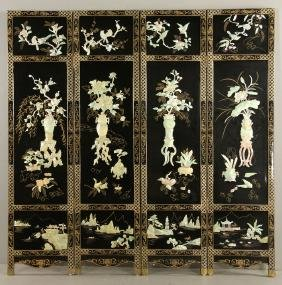 Chinese Inlaid Dressing Screen