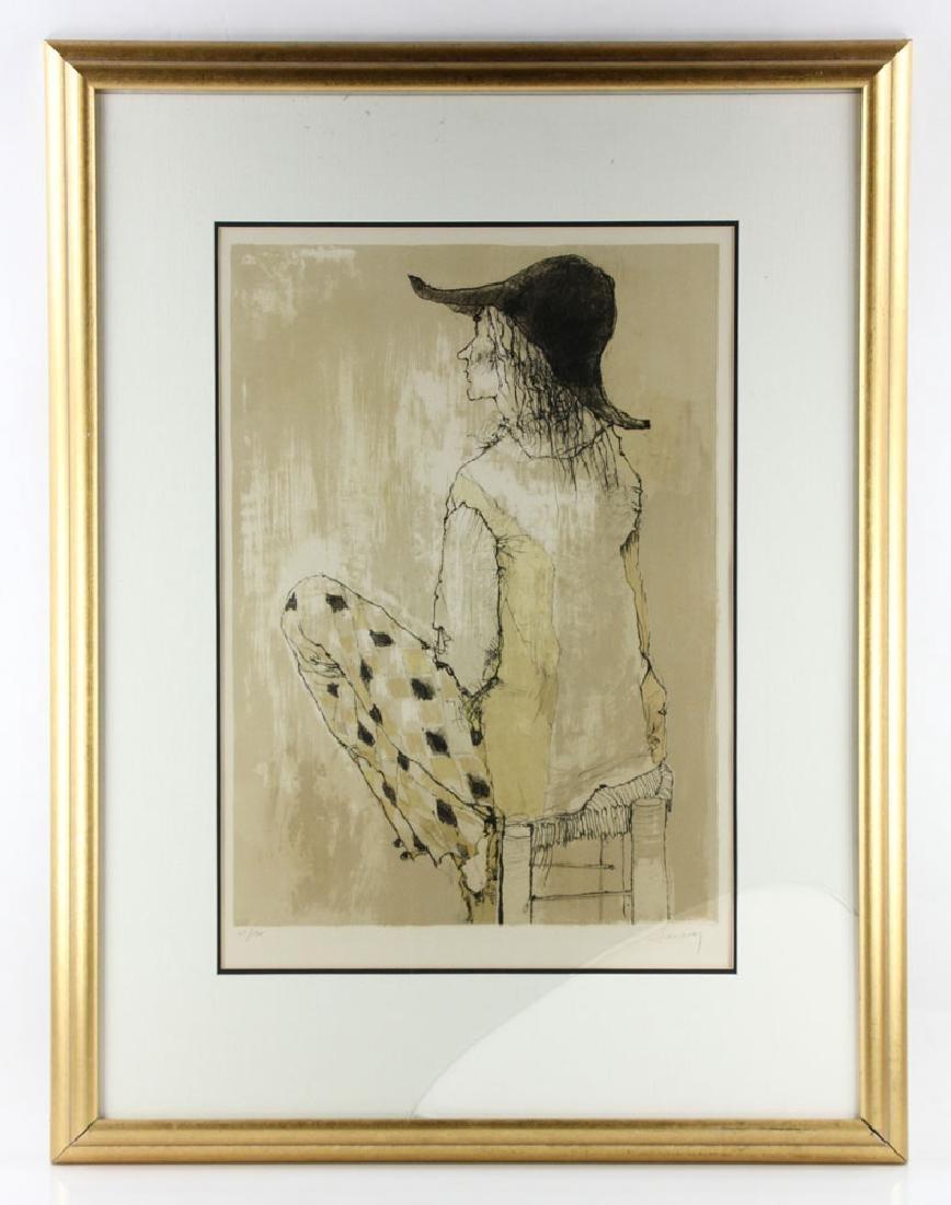 Jamsem, Lady in Harlequin Slacks, Lithograph