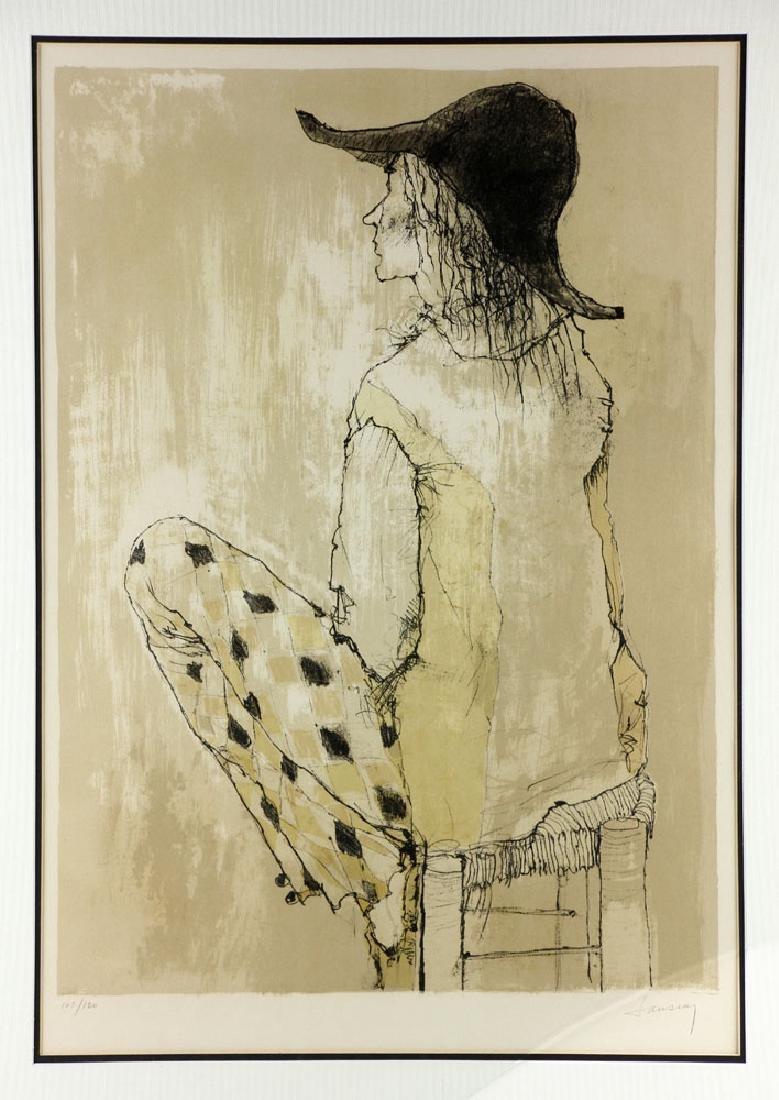 Jamsem, Lady in Harlequin Slacks, Lithograph - 2
