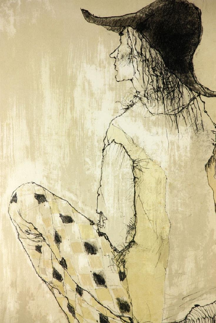 Jamsem, Lady in Harlequin Slacks, Lithograph - 4