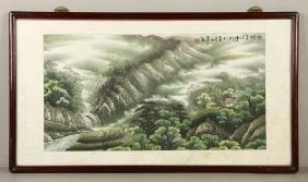 Mountain Landscape, 20th C. Chinese Watercolor