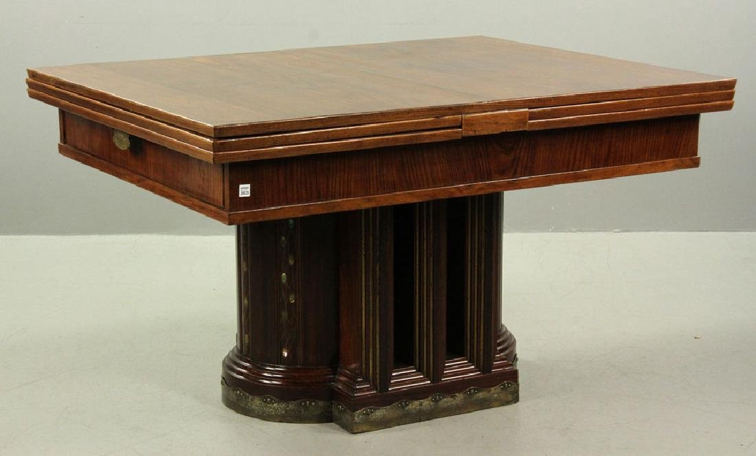19th C. Vienna Austrian Secessionist Inlaid Table