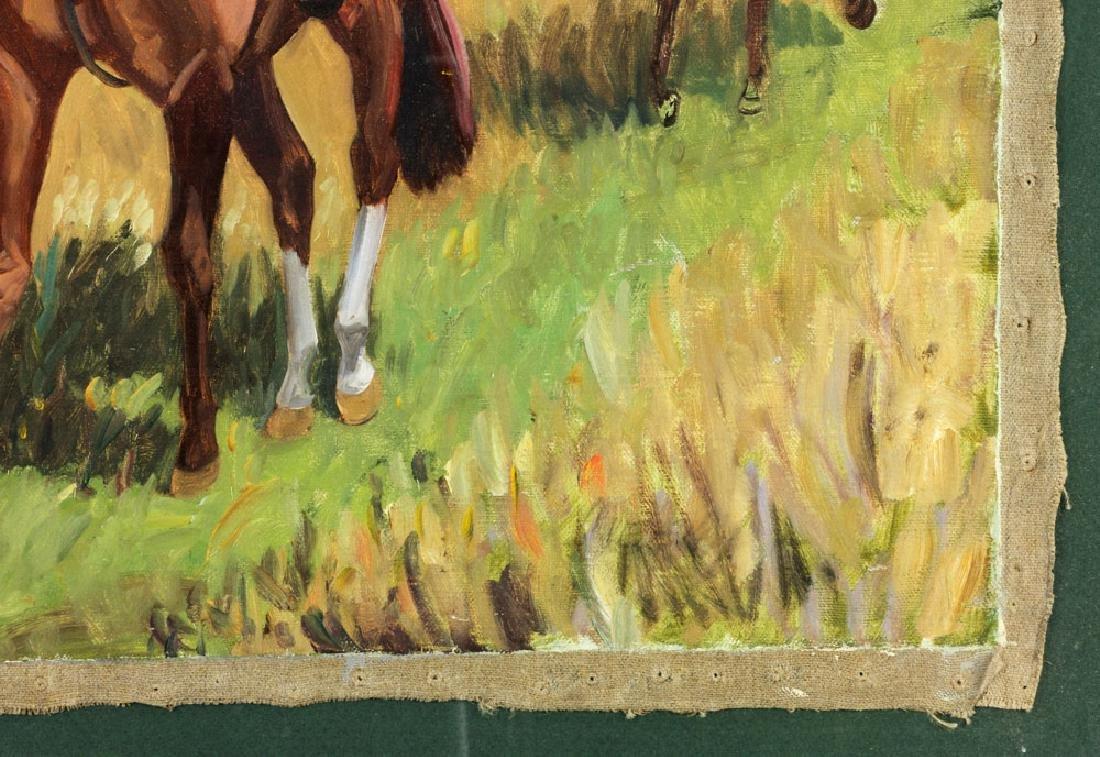 19th C. Fox Hunt Scene, Oil on Canvas - 7