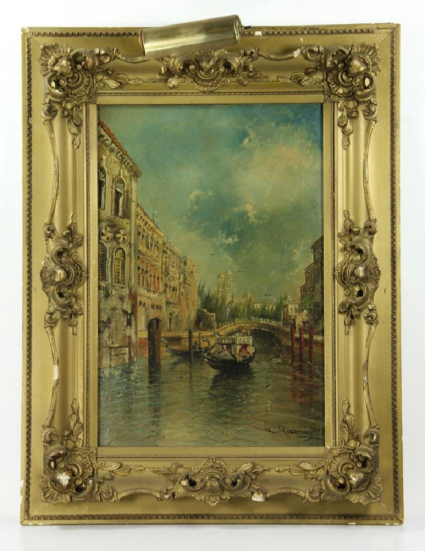 Gianni, Venetian Scene, Oil on Canvas