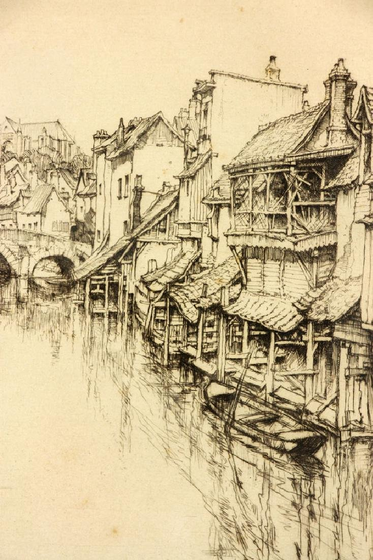 "Roth, ""The Little Bridge, Chartres,"" Etching - 3"