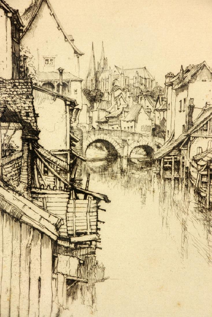 "Roth, ""The Little Bridge, Chartres,"" Etching - 4"