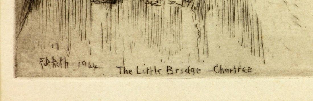 "Roth, ""The Little Bridge, Chartres,"" Etching - 5"