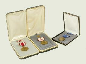 Lot of 3 Boxed Replica American Military Medals