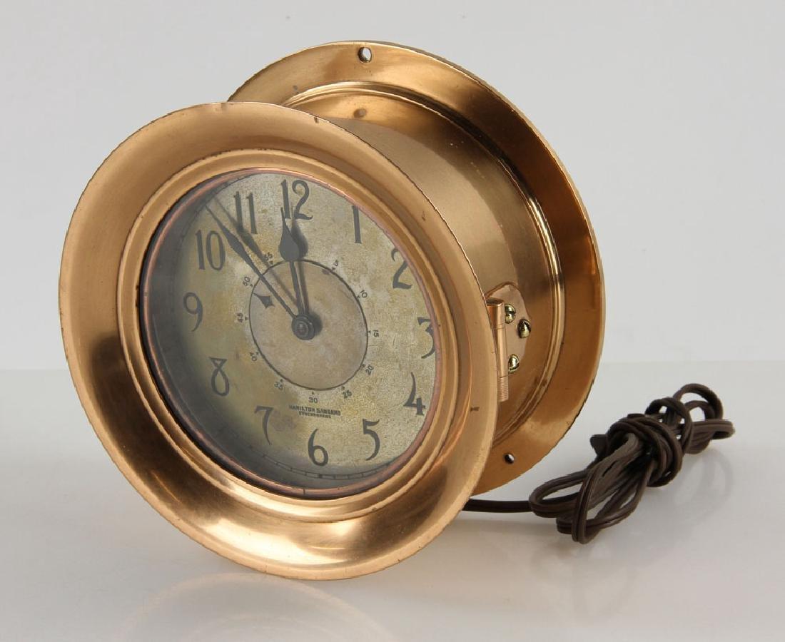Hamilton Sangamo Synchronous Ship's Clock - 2