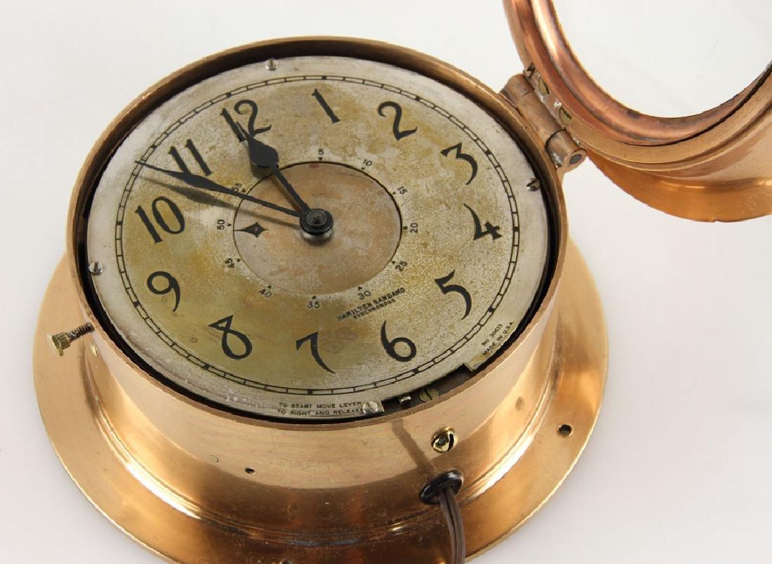 Hamilton Sangamo Synchronous Ship's Clock - 4