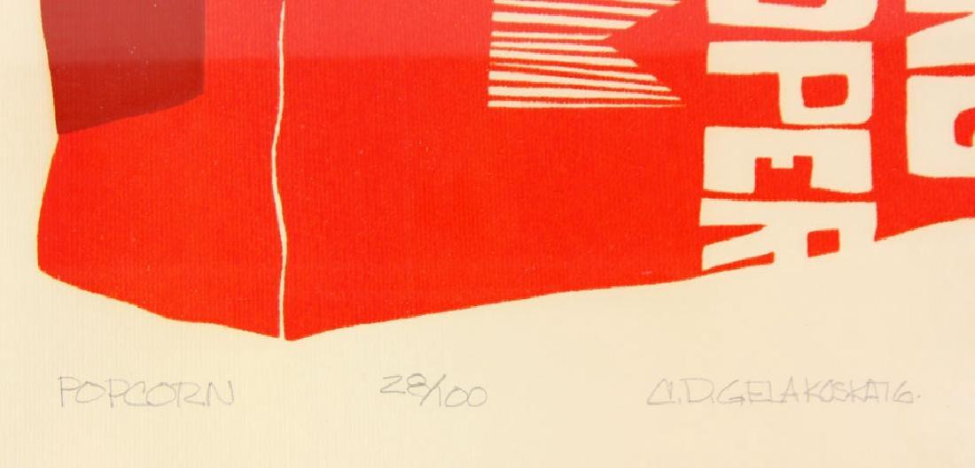 """Gelakoska, """"Popcorn,"""" Embossed Print - 4"""