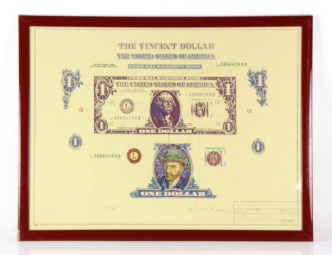 "Dowd, ""The Vincent Dollar,"" Lithograph"