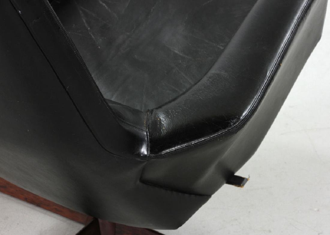 Ib Kofod Larsen Leather Lounge Chair and Ottoman - 5