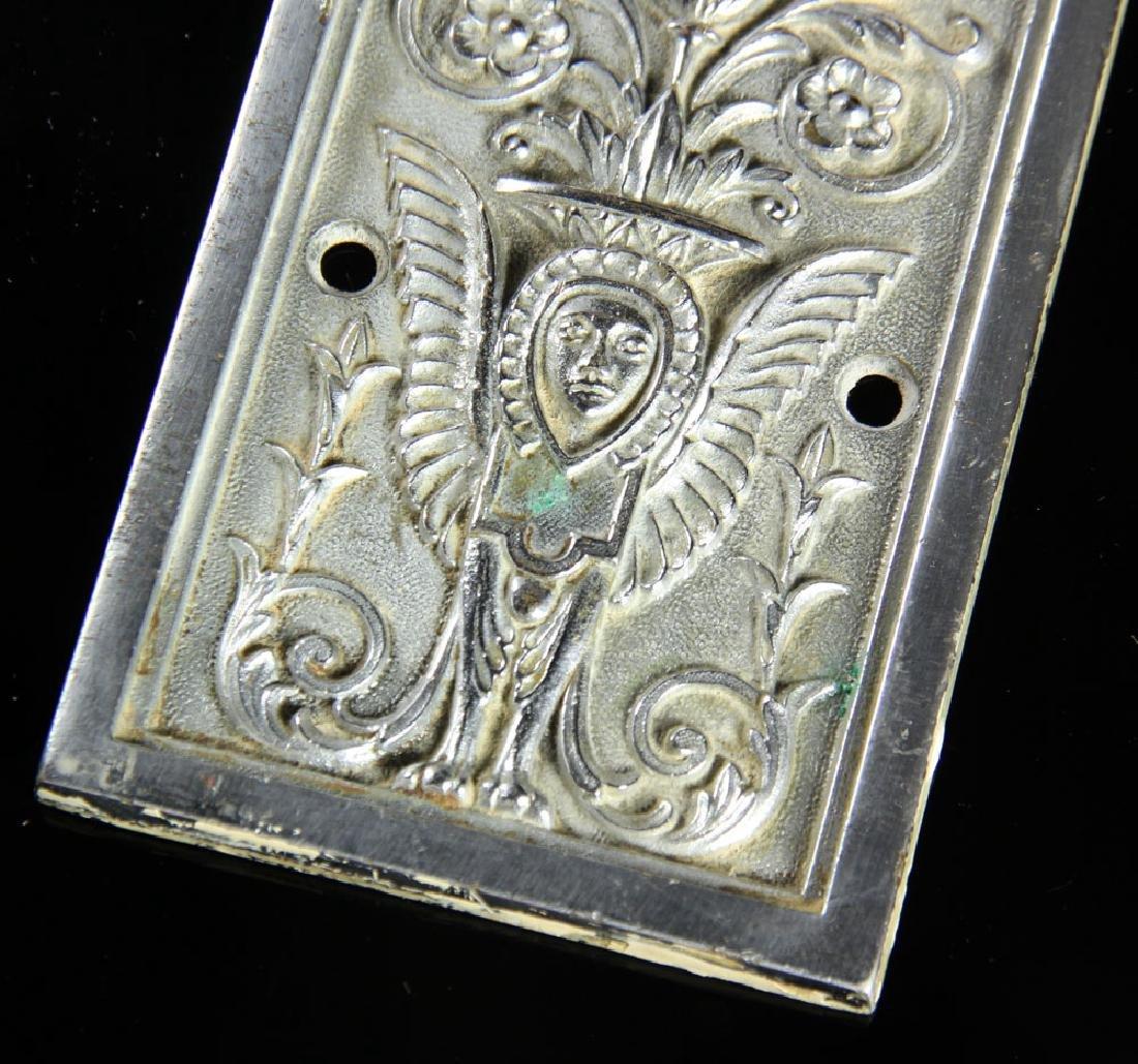 3 Art Deco Bronze Door Escutcheons - 5