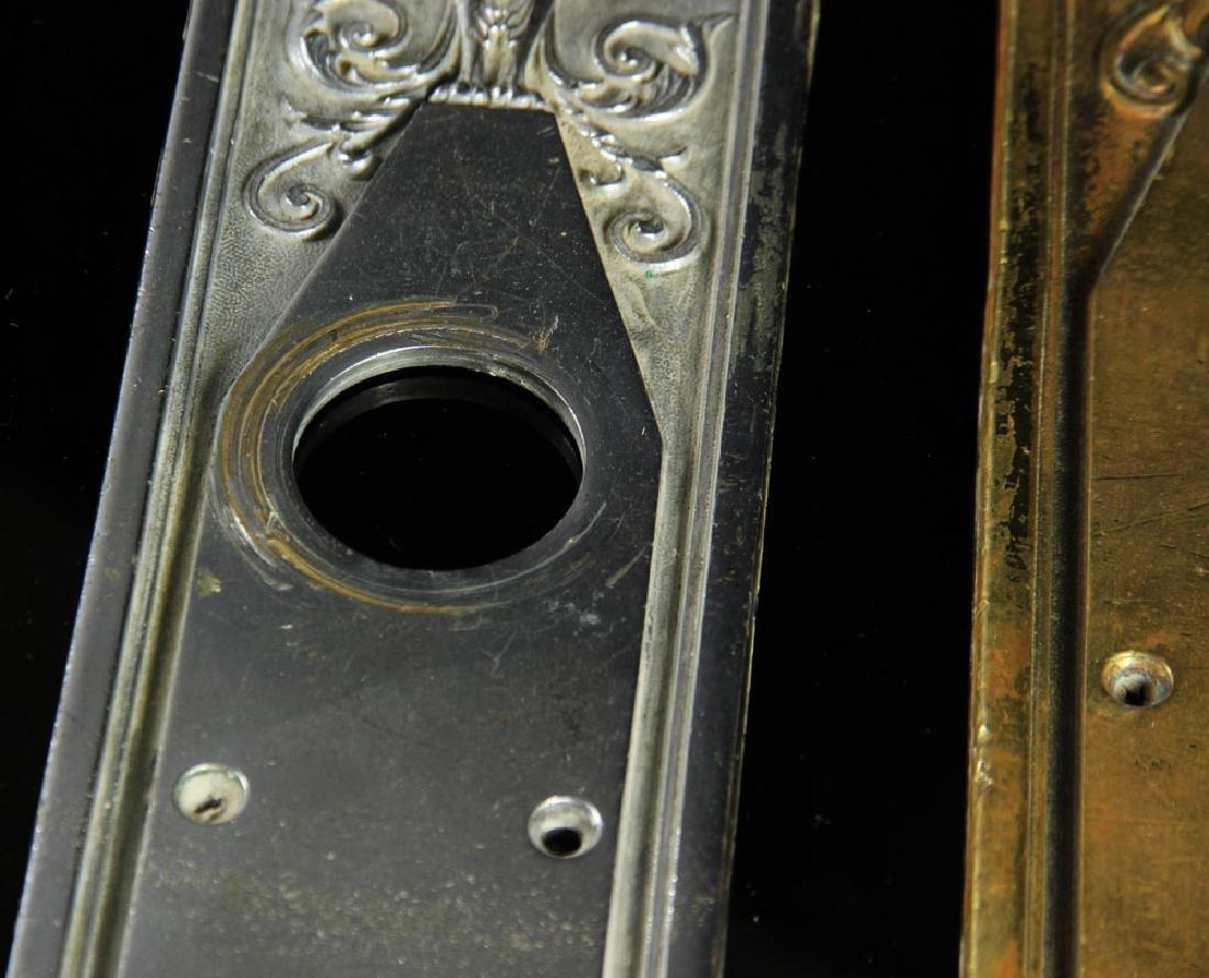 3 Art Deco Bronze Door Escutcheons - 6