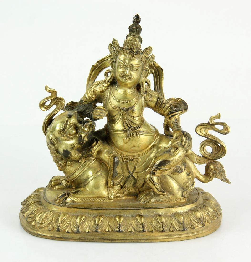 Gilt Bronze Buddha Figure