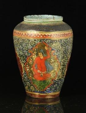 19th C. Persian Bronze Vase
