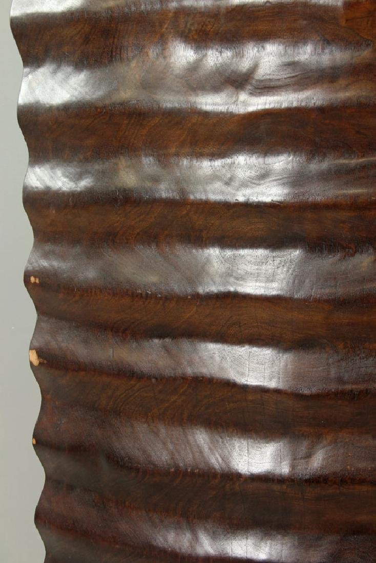 African Hand Carved Mahogany Screen - 2
