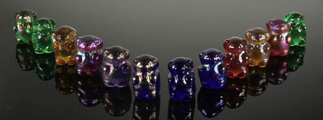 Lot of 12 Art Glass Gummy Bear Sculptures