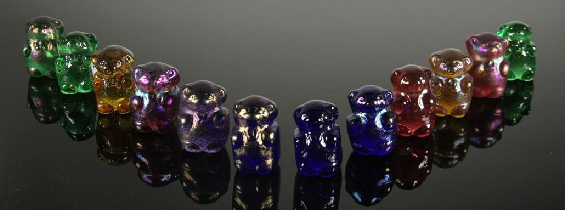 Lot of 12 Art Glass Gummy Bear Sculptures