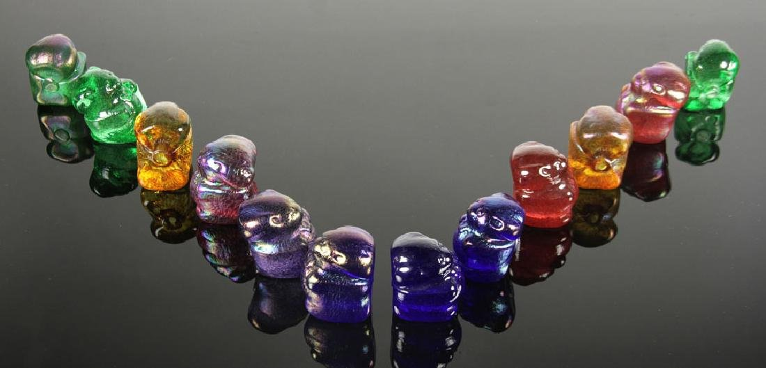 Lot of 12 Art Glass Gummy Bear Sculptures - 2