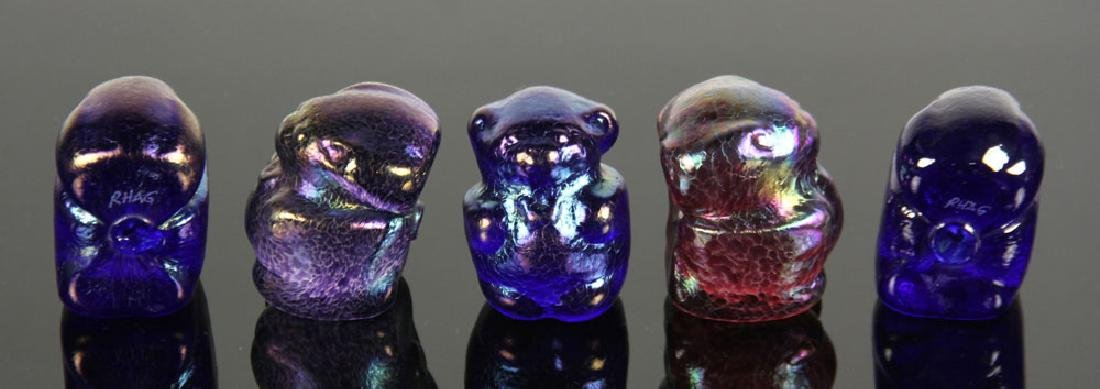 Lot of 12 Art Glass Gummy Bear Sculptures - 3