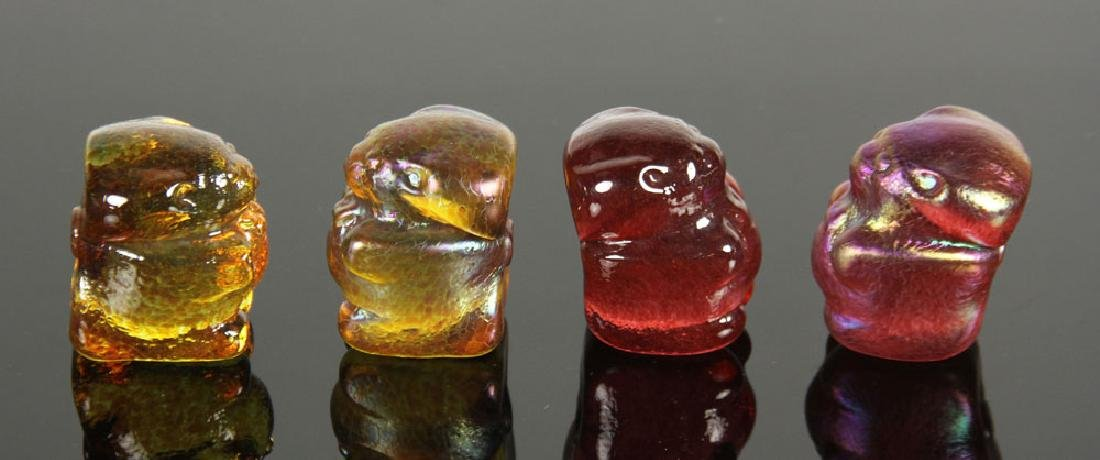 Lot of 12 Art Glass Gummy Bear Sculptures - 4