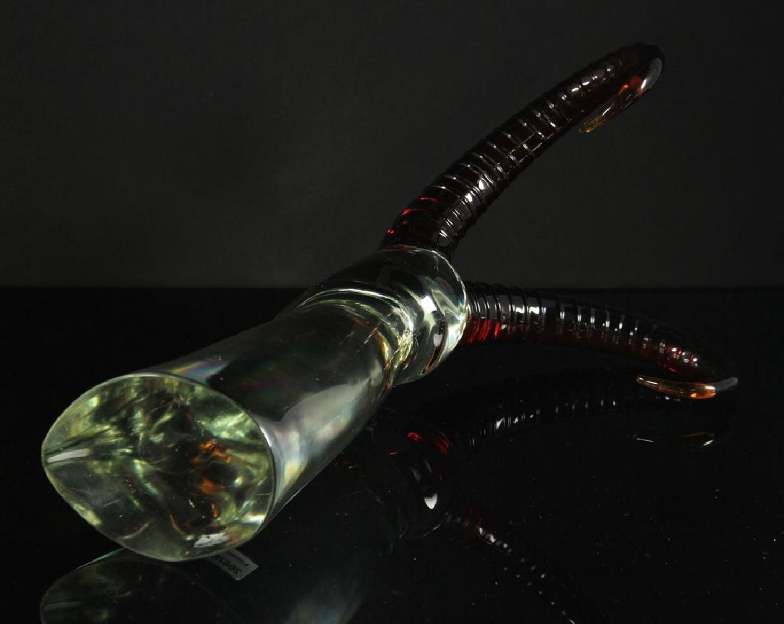 3 Figural Art Glass Sculptures - 10