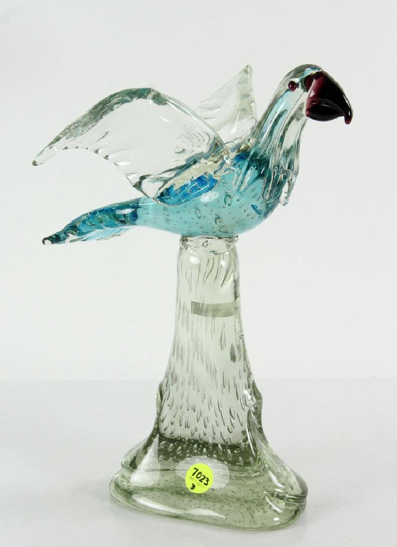 3 Figural Art Glass Sculptures - 4