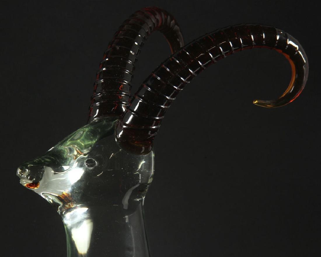 3 Figural Art Glass Sculptures - 9