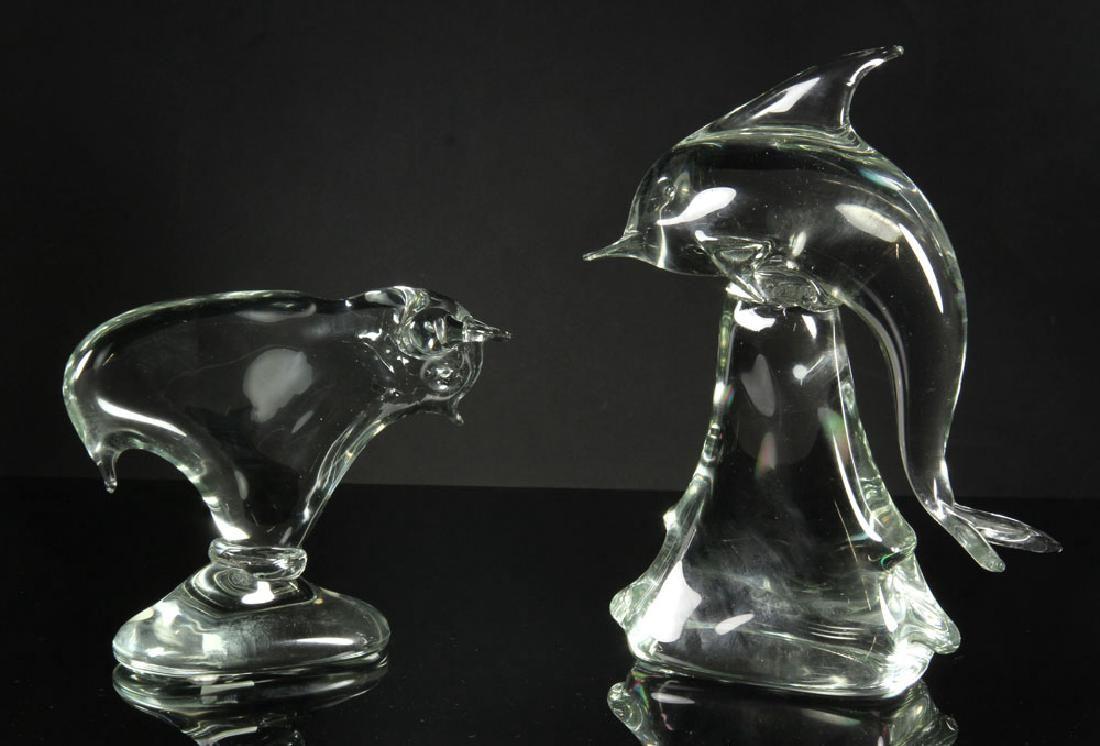 2 Art Glass Sculptures