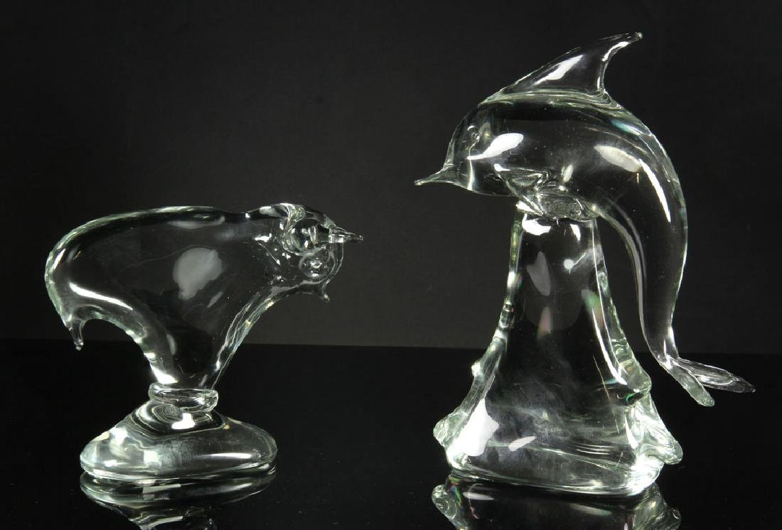 2 Art Glass Sculptures