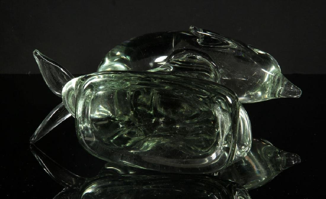 2 Art Glass Sculptures - 8