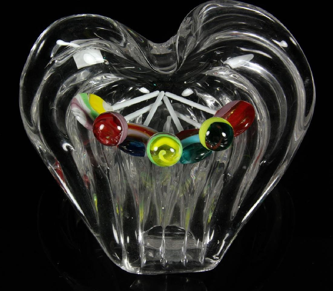 Crystal Candy Dish with Glass Lollipops