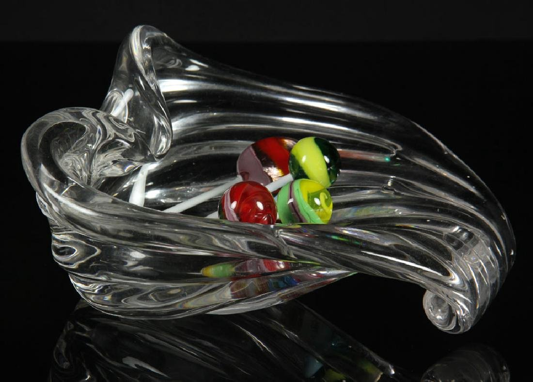 Crystal Candy Dish with Glass Lollipops - 2