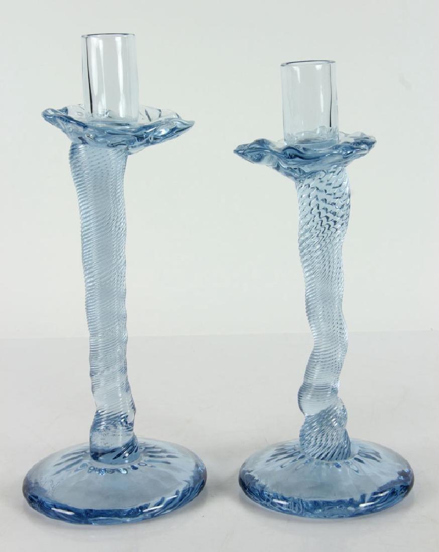 Applebaum, Pr. Glass Candlesticks