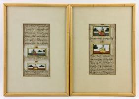 Two 19th C. Persian Illuminated Manuscripts