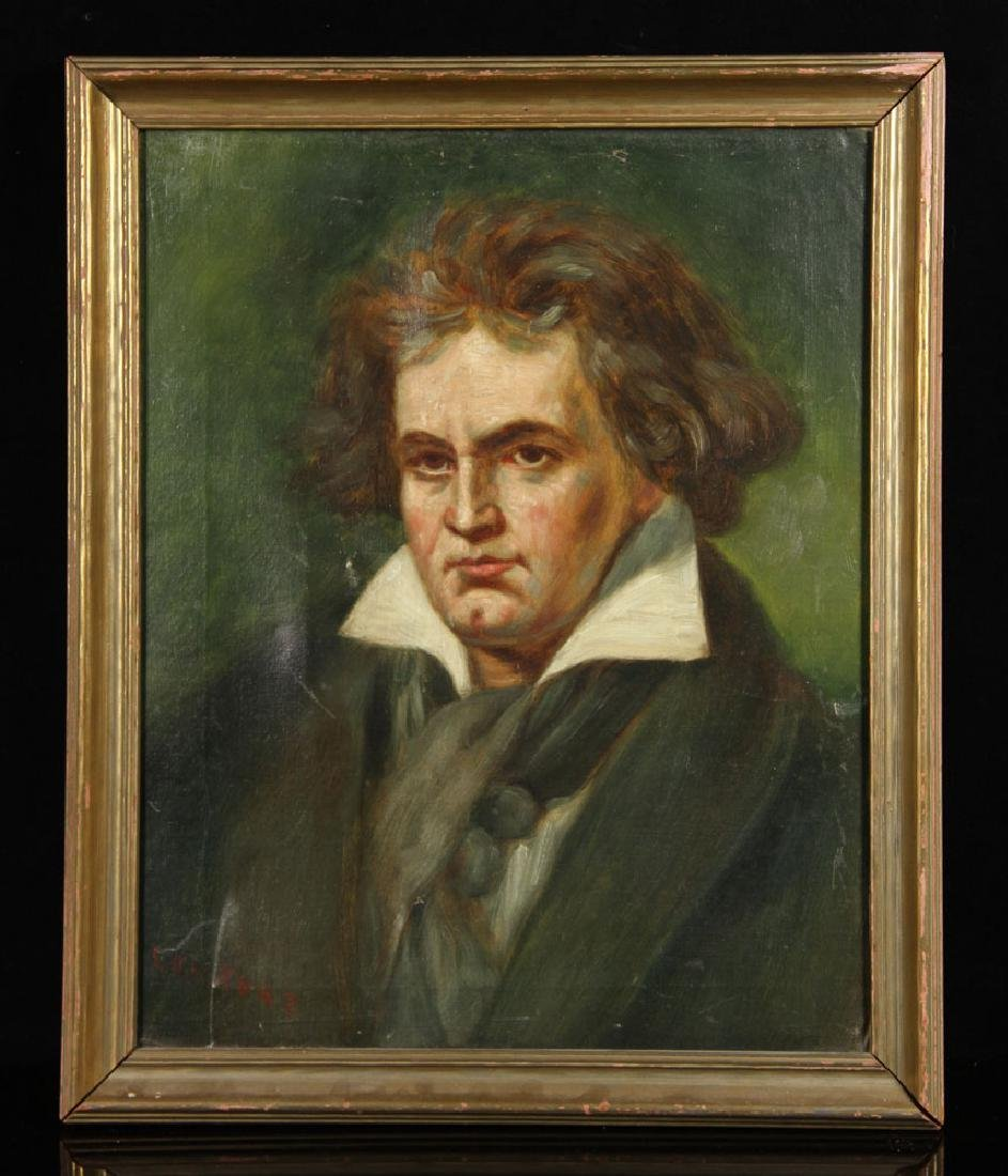Kurz, Portrait of Beethoven, Oil on Canvas