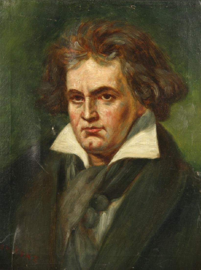 Kurz, Portrait of Beethoven, Oil on Canvas - 2