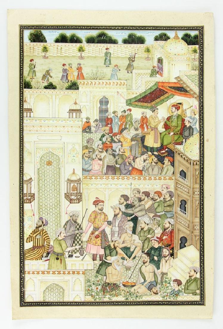 13 Antique Hand Painted Persian Manuscript Pages - 2