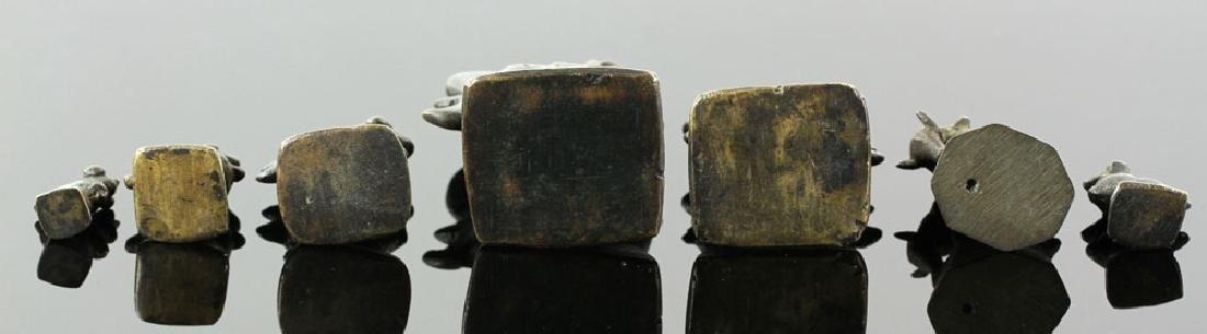 Seven 19th C. Chinese Bronze Weights - 6
