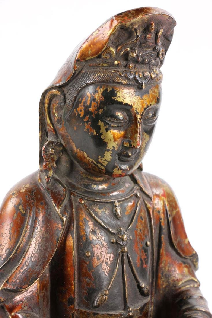 Chinese Antique Bronze Guanyin - 10