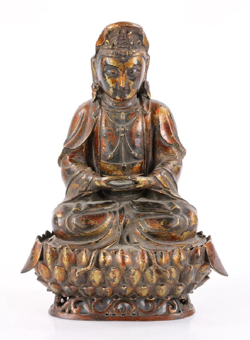 Chinese Antique Bronze Guanyin