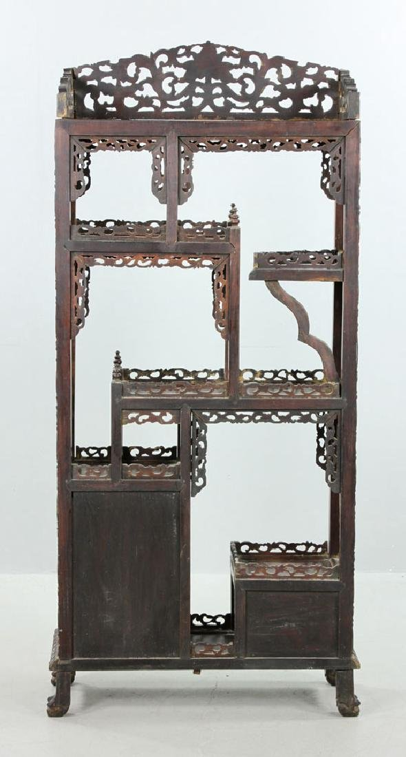 Late 19th C. Chinese Redwood Showcase (Da Bao Ge) - 12