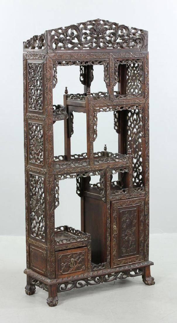 Late 19th C. Chinese Redwood Showcase (Da Bao Ge) - 2
