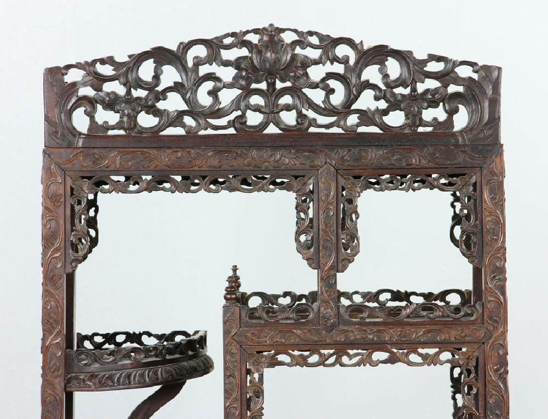 Late 19th C. Chinese Redwood Showcase (Da Bao Ge) - 4