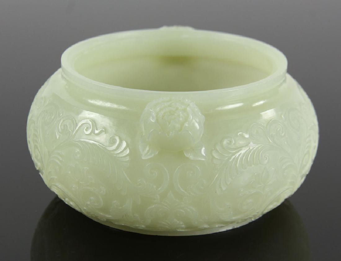 Chinese Carved Jade Censer - 4