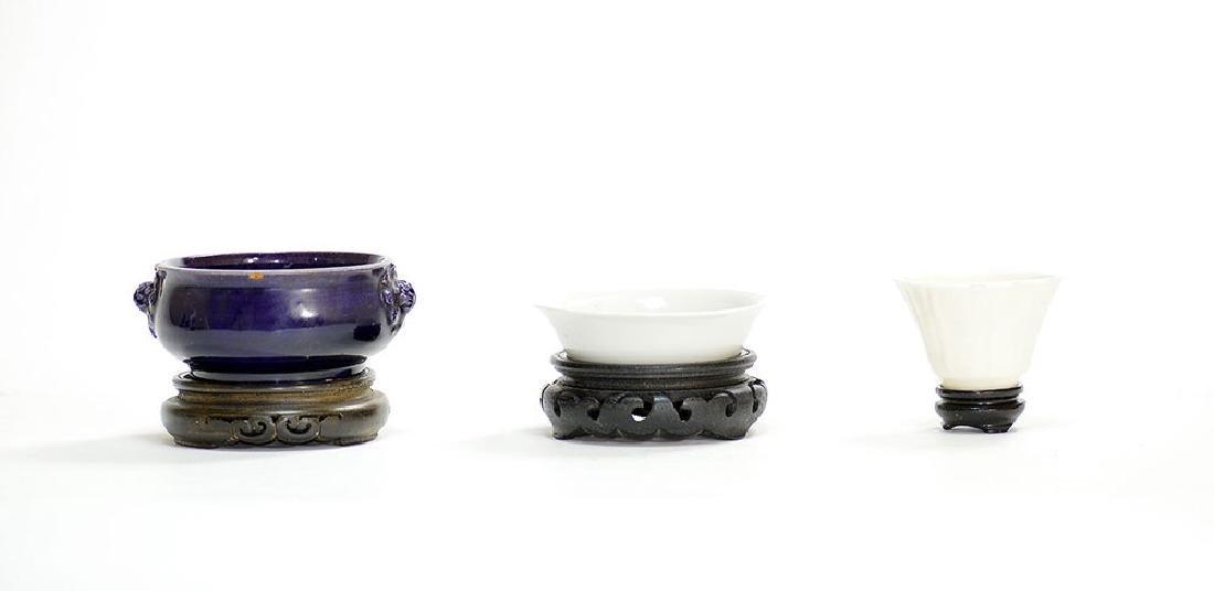 Group of 17th C. Chinese Monochrome Ceramics