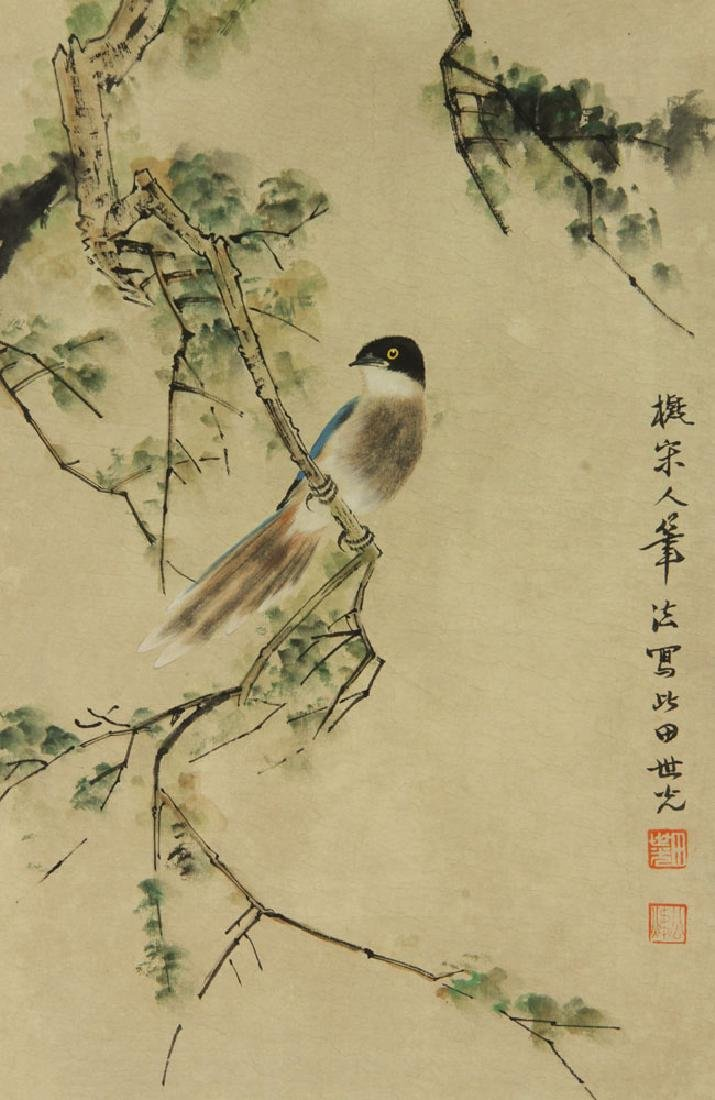 Two Chinese Watercolor Paintings on Paper - 2